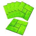 『雑草が生えにくい芝生調マット6枚組』日光99%カットで雑草防止ができる芝生調マット6枚組!