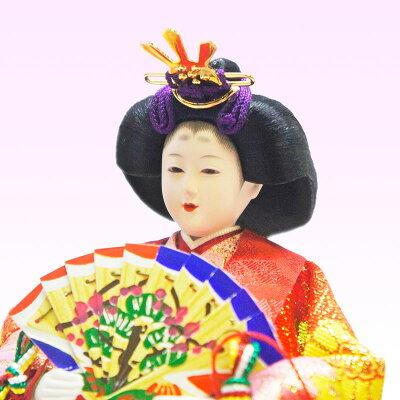 【レビューを書いて送料無料!】雛人形ひな人形数量限定コンパクト金襴親王ケース飾り