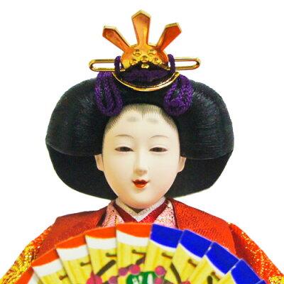 【送料無料】雛人形ひな人形黒檀調刺繍人形五人ケース飾り