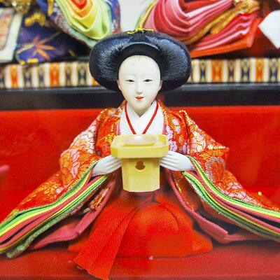 雛人形ひな人形親王ケース飾り【遊】