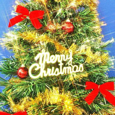 クリスマスツリー90cm特価ファイバーツリーセットR&G