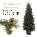 クリスマスツリー プレミアムウッドベースツリー150cmポットツリー ヌードツリー