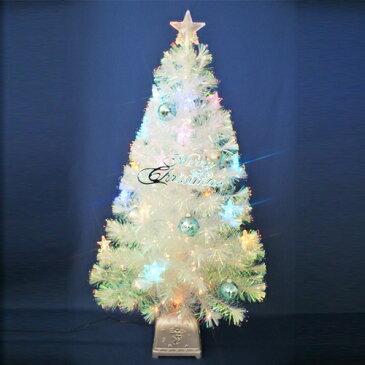 【ポイント16倍】クリスマスツリー 北欧 おしゃれ 120cmチェンジングパールファイバーツリーセット(チェンジングスターLED付き) オーナメント セット LED
