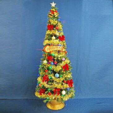 北欧 おしゃれなクリスマスツリー 210cmファイバーツリーセット12 LED48球付き