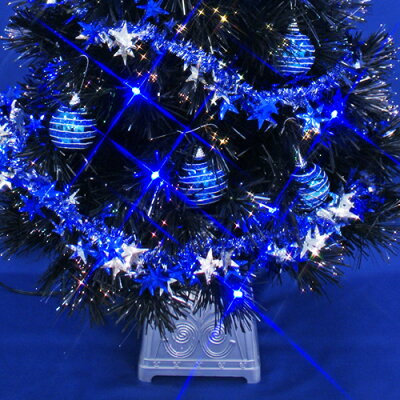 クリスマスツリーブラックファイバーツリーセット120cm11