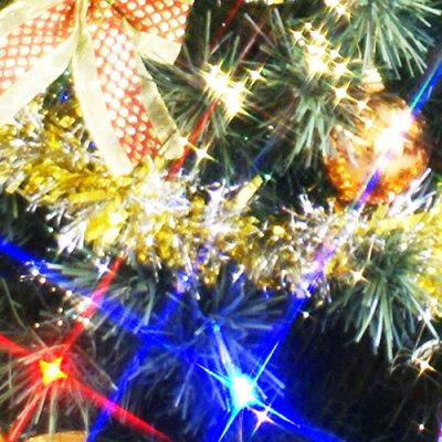 クリスマスツリーファイバーツリー210cmセット(マルチLED54球付)11