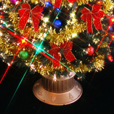クリスマスツリーファイバーツリー240cmセット(マルチLED72球付)