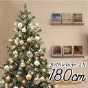 [5の付く日はエントリーでP12倍]クリスマスツリー 北欧 おしゃれ ベツレヘムの星-EX オーナメント セット LED ヨーロッパトウヒツリーセット180cm・・・