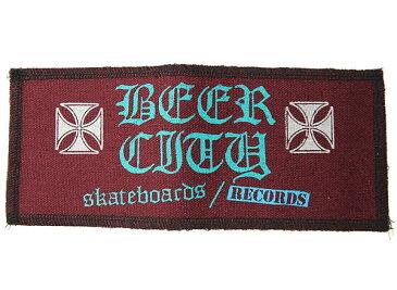 BEER CITY(ビアシティ)SKATEBOARDS/RECORDS ワッペン パッチ 刺繍 Iron Cross patch Purple スケボー SKATE SK8 スケートボード HARD CORE PUNK ハードコア パンク HIPHOP ヒップホップ SURF サーフ レゲエ reggae スノボー スノーボード Snowboard NINJA X