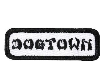 Dogtown (ドッグタウン) ワッペン パッチ 刺繍 DT Workshirt Patch White スケボー SKATE SK8 スケートボード HARD CORE PUNK ハードコア パンク HIPHOP ヒップホップ SURF サーフ レゲエ reggae スノボー スノーボード Snowboard NINJA X