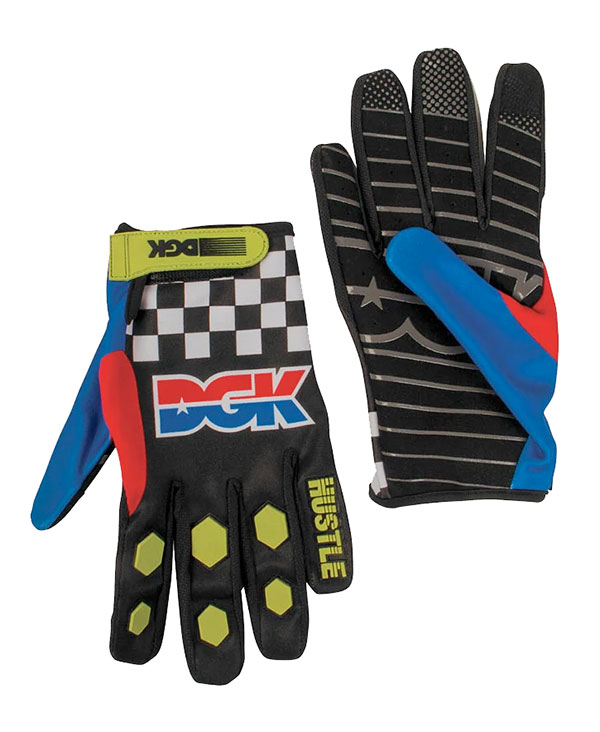 バイクウェア・プロテクター, グローブ Kawasaki x DGK() Team Hustle Gloves Multi SKATE SK8 HARD CORE PUNK HIPHOP reggae Snowboard