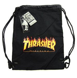 Thrasher Magazine(スラッシャー)ナップサック ランドリーバッグ Flame Logo Laundry bag Black スケボー SKATE SK8 スケートボード HARD CORE PUNK ハードコア パンク HIPHOP ヒップホップ SURF サーフ レゲエ reggae スノボー スノーボード Snowboard NINJA X