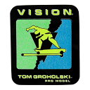 Vision(ビジョン)ステッカー シール Tom Groholski Sticker 80年代復刻 スケボー SKATE SK8 スケートボード HARD CORE PUNK ハードコア パンク HIPHOP ヒップホップ SURF サーフ レゲエ reggae