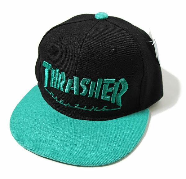 帽子, キャップ Thrasher() Kids Mini Mag Logo Snapback Hats Cap BlackGreen JP SKATE SK8 HARD CORE PUNK HIPHOP SURF