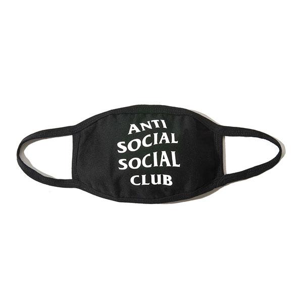 衛生マスク・フェイスシールド, 大人用マスク AntiSocialSocialClub () Medical Black Facemask with Logo