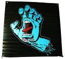 SANTA CRUZ バナー 壁掛け 大判フラッグ サンタクルーズ Screaming Hand Color Banner 91×91cm Back/Blue スケボー SKATE SK8 スケートボード HARD CORE PUNK ハードコア パンク HIPHOP ヒップホップ SURF サーフ レゲエ reggae スノボー スノーボード Snowboard NINJA X