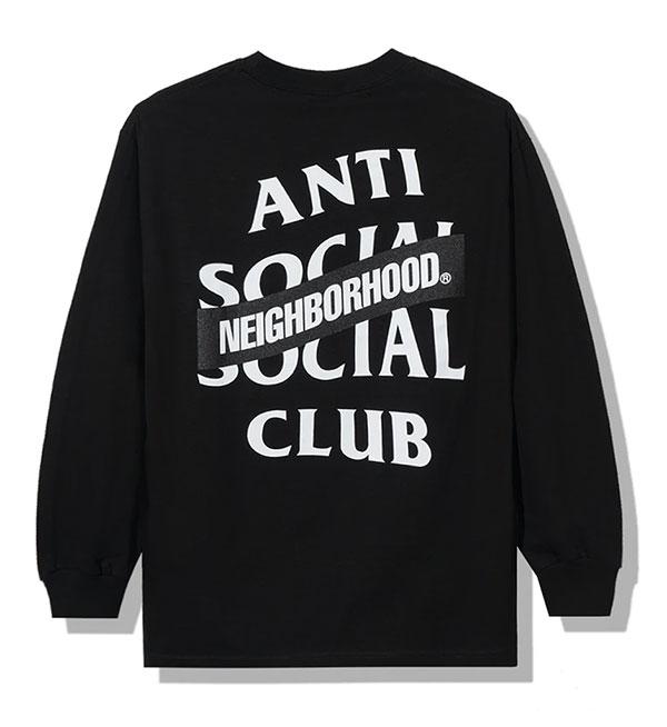 トップス, Tシャツ・カットソー AntiSocialSocialClub () T T Neighborhood X Assc AW05 Black Long Sleeve Tee SKATE SK8 HARD CORE PUNK HIPHOP