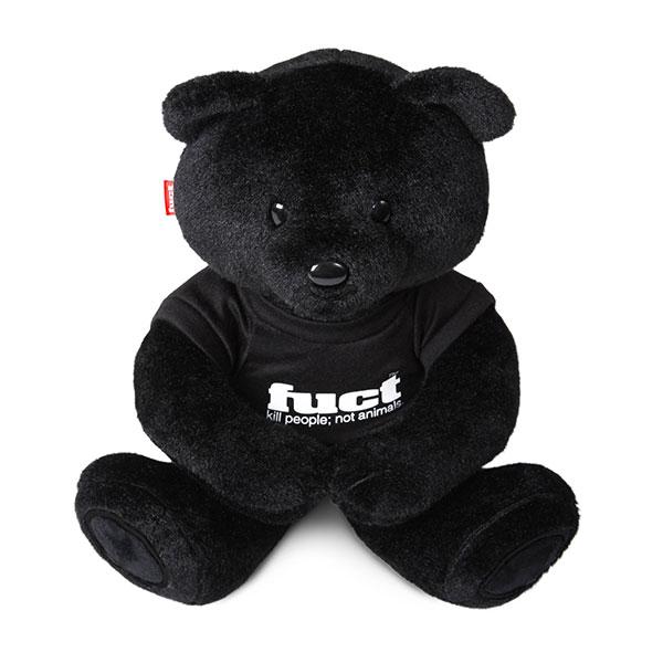 ぬいぐるみ・人形, ぬいぐるみ fuct () US KILL PEOPLE NOT ANIMALS TEDDY BLACK