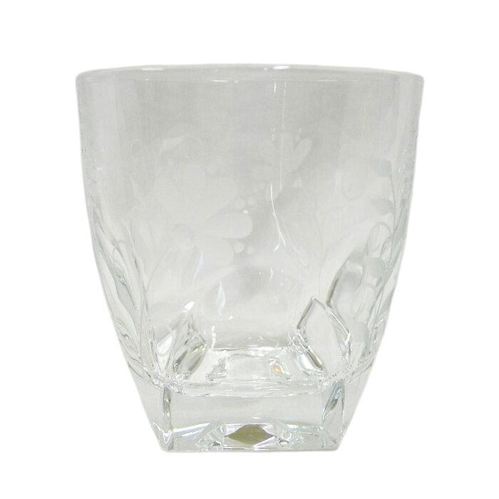 【DRESDEN KRISTALL】ドレスデン クリスタル オールドファッション シングルフラワー ロックグラス ユニセックス グラス【中古】SAランク