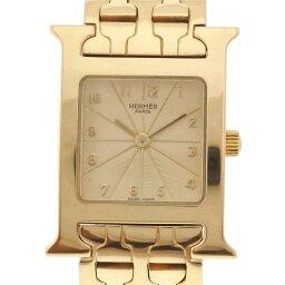 【HERMES】エルメス Hウォッチ HH1.285 K18イエローゴールド ゴールド クオーツ レディース ゴールド文字盤 腕時計【中古】Aランク