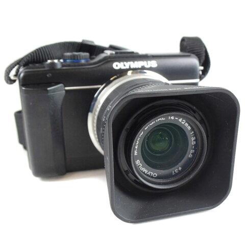 【OLYMPUS】オリンパス ペン Lite レンズ14-42mm 1:3.5-5.6 2 E-PL1s ユニセックス デジタルカメラ【中古】Aランク