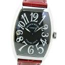 【スーパーセール10%OFF対象】【FRANCK MULLER】フランクミュラー カサブランカ 6850 ステンレススチール×レザー レッド 自動巻き メンズ 黒文字盤 腕時計【中古】
