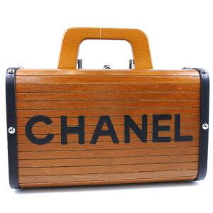 [CHANEL] Chanel Wood Vanity Wood Pink Ladies Handbag [Used] SA Rank