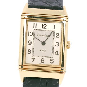 [★ Fashion THE SALE ★ 10-50% OFF in store 7/14 until 9:59!] [JAEGER-LECOULTRE] Jaeger-LeCoultre Reverso Classic 6184.21 K18 Yellow Gold x Leather Manual winding Ladies beige dial watch [Used] A-rank