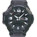 【CASIO】カシオ G-SHOCK/Gショック グラビティマスター スカイコックピット GA-1000FC 5302 ステンレススチール クオーツ アナデジ表示 メンズ 黒文字盤 腕時計【中古】A-ランク