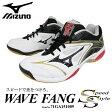 mizuno:ミズノ WAVE FANG SS:ウエーブファングSS 71GA1510 バドミントンシューズ 09:ホワイト/ブラック/ゴールド