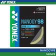 【対象ラケットを張り上げあり同時購入でガット1本無料】YONEX:ヨネックス ナノジー98 NANOGY 98 NBG98 バドミントン ガット ストリング ゲージ:0.66mm 長さ:10m特性:反発