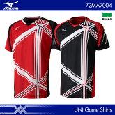 ヨネックス:YONEXゲームシャツ72MA7004UNISEX:男女兼用ゲームウェアユニフォームバドミントン・テニスウェア日本バドミントン協会審査合格品サイズ:XS,S,M,L,XL