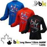 ブラックナイト:blackknightbkロング66AWT-6206UNISEX:男女兼用ロングTシャツ・長袖TシャツバドミントンTシャツ