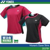 【受注会限定品】ヨネックス:YONEXゲームシャツ20378Yレディース女性用ゲームウェアゲームシャツバドミントンテニスバドミントンウェアテニスウェアサイズ:S,M,L,O,XO日本バドミントン協会審査合格品