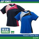 【受注会限定品】ヨネックス:YONEXゲームシャツ20379Yレディース女性用ゲームウェアゲームシャツバドミントンテニスバドミントンウェアテニスウェアサイズ:S,M,L,O,XO日本バドミントン協会審査合格品