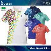 ゴーセン:GOSENゲームシャツT1713レディース:女性用ゲームウェアゲームシャツバドミントンテニスバドミントンウェアテニスウェアサイズ:S,M,L,LL,XL日本バドミントン協会審査合格品