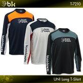 ブラックナイト:blackknightロングTシャツT-7210ロングスリーブTシャツバドミントンテニススカッシュバドミントンウェアテニスウェアTシャツ長袖