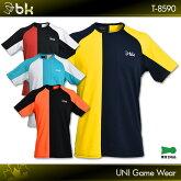 blackknight:ブラックナイトゲームウェアT-8590UNISEX:男女兼用バドミントンテニススカッシュゲームシャツユニフォーム日本バドミントン協会審査合格品