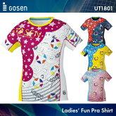 ゴーセン:GOSENファンプラシャツUT1800UNISEX:男女兼用Tシャツ練習着バドミントンテニスバドミントンウェアテニスウェアサイズ:S,M,L,LL,XL