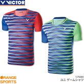 ビクターVICTORゲームシャツT-75000ユニ男女兼用ゲームウェアユニフォームバドミントン日本バドミントン協会審査合格品