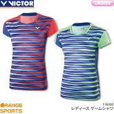 ビクターVICTORゲームシャツT-76000レディース女性用ゲームウェアユニフォームバドミントン日本バドミントン協会審査合格品