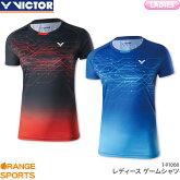 ビクターVICTORゲームシャツT-91008レディース女性用ゲームウェアユニフォームバドミントン日本バドミントン協会審査合格品