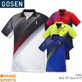 ゴーセンGOSENゲームシャツT1930ユニ男女兼用ゲームウェアユニフォームバドミントンテニスバドミントンウェアテニスウェア日本バドミントン協会審査合格品