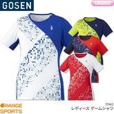ゴーセンGOSENゲームシャツT1943レディース女性用ゲームウェアユニフォームバドミントンテニスバドミントンウェアテニスウェア日本バドミントン協会審査合格品