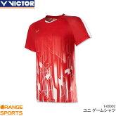 ビクターVICTORゲームシャツT-00002ユニ男女兼用ゲームウェアユニフォームバドミントン日本バドミントン協会審査合格品