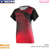 ビクターVICTORゲームシャツT-01001レディース女性用ゲームウェアユニフォームバドミントン日本バドミントン協会審査合格品