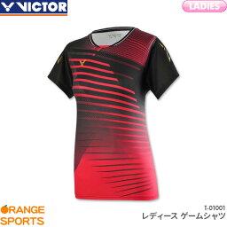 ビクター VICTOR ゲームシャツ T-01001 レディース 女性用 ゲームウェア ユニフォーム バドミントン 日本バドミントン協会審査合格品