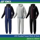 ヨネックス:YONEXスウェットパーカー+パンツ3004330044UNISEX:男女兼用トレーニングウェアスウェットバドミントン・テニスウェア