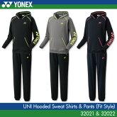 ヨネックス:YONEXスウェットパーカー+パンツ(フィットスタイル)3202132022UNISEX:男女兼用トレーニングウェア上下セットバドミントンテニス