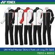 ヨネックス:YONEX 裏地付ウィンドウォーマーシャツ+パンツ(フィットスタイル) 上下セット 70052 80052 UNISEX:男女兼用 トレーニングウェア バドミントン・テニスウェア ウィンドブレーカー